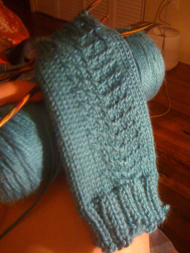 Finishing a set of gloves for a friend