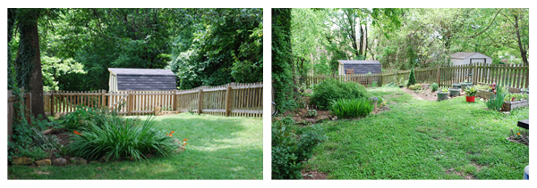 backyard then and now
